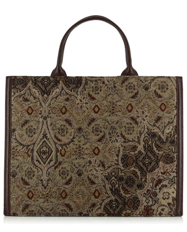 Grand sac à main en brocart et cuir FABIANA FILIPPI