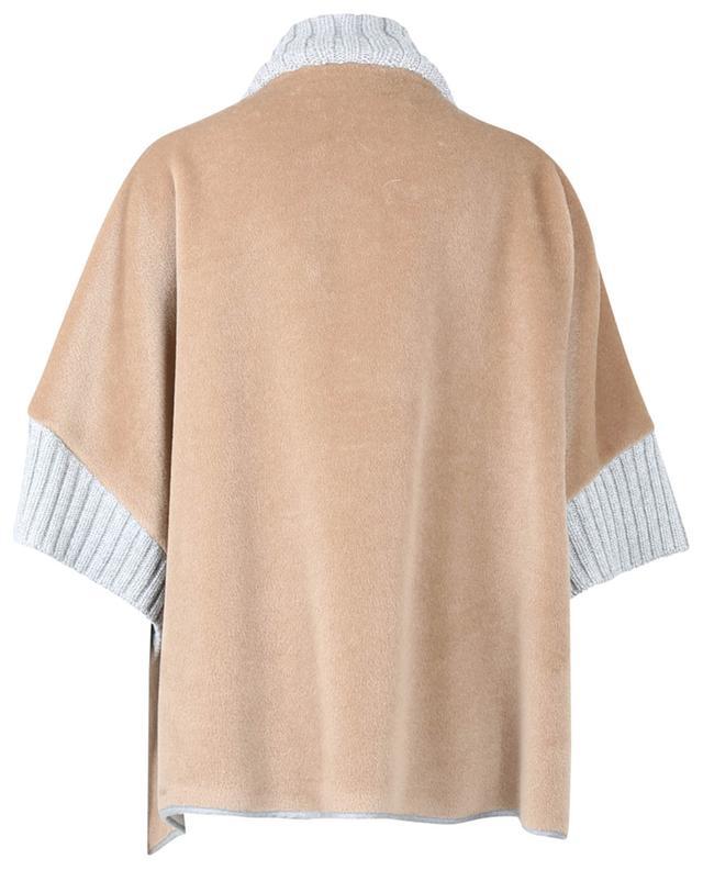 Cape en laine vierge à col montant FABIANA FILIPPI