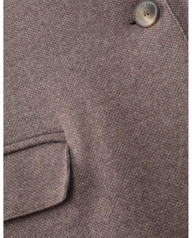 Blazer slim à boutonnage simple en laine mélangée effet piqué Delta FABIANA FILIPPI