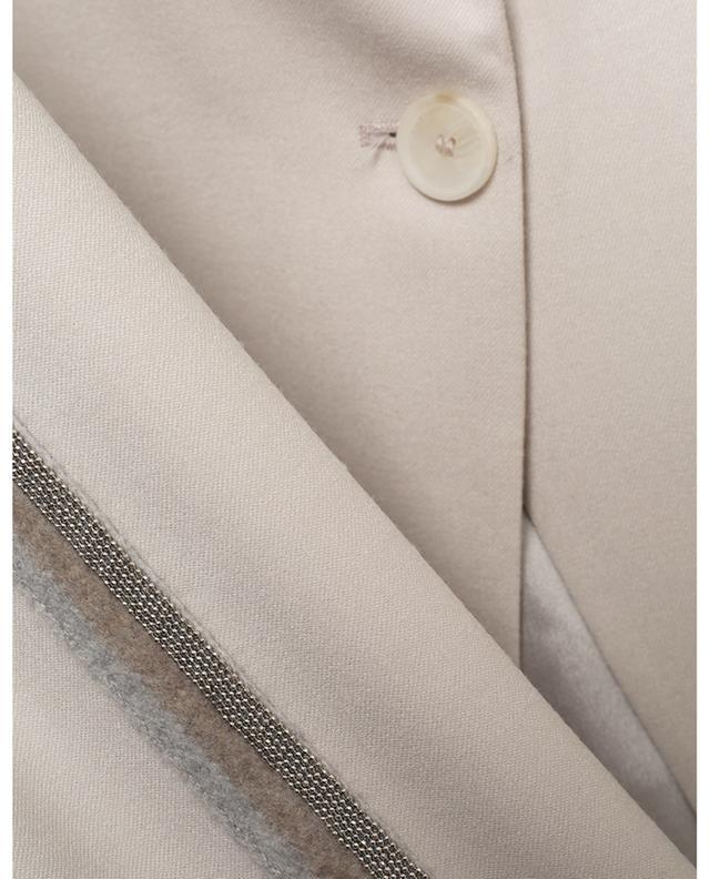 Blazer à boutonnage simple en laine à rayures latérales Delta FABIANA FILIPPI