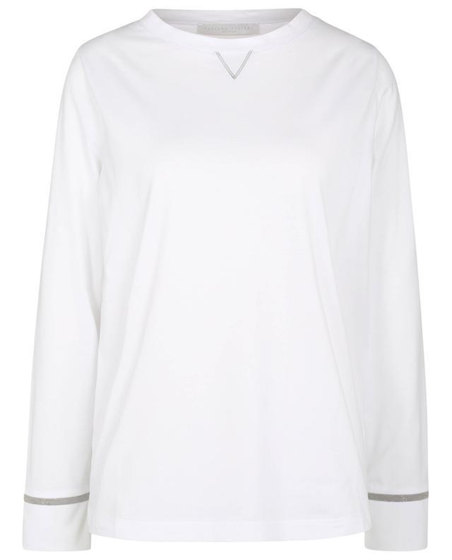 T-shirt à manches longues en jersey à perles TERRA FABIANA FILIPPI