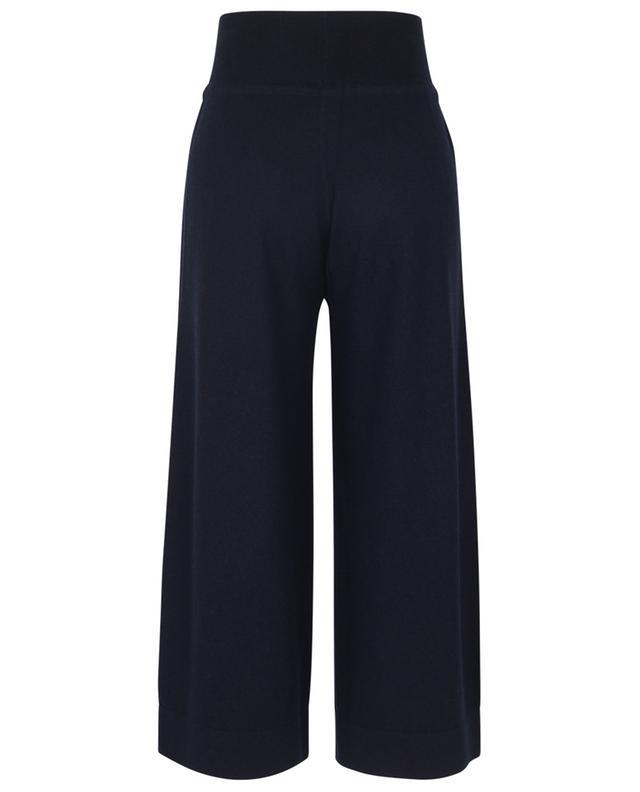 Pantalon large raccourci en maille de laine, soie et cachemire FABIANA FILIPPI