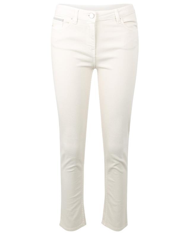 Jean slim blanc crème orné de perles Todi FABIANA FILIPPI