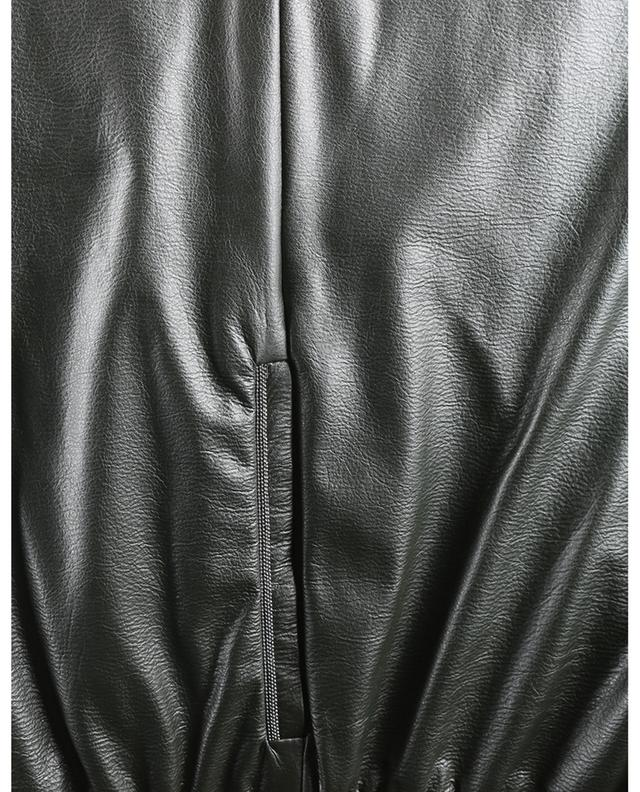Pantalon large raccourci en cuir synthétique brodé de perles FABIANA FILIPPI