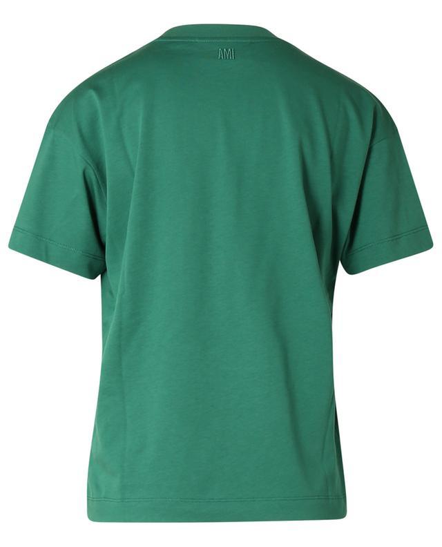 T-shirt en jersey brodé coeur rouge Ami de Coeur AMI