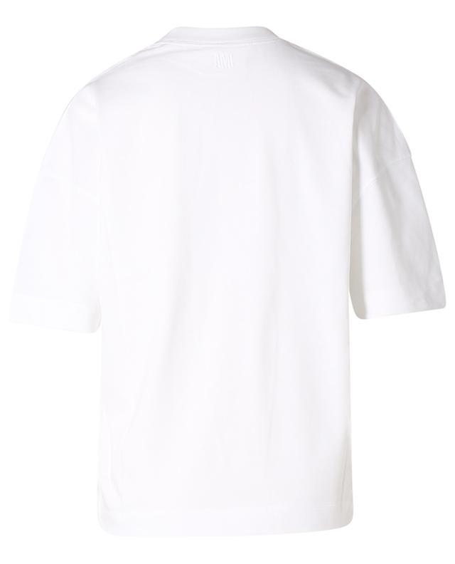 T-shirt oversize brodé ton sur ton Ami de Coeur AMI