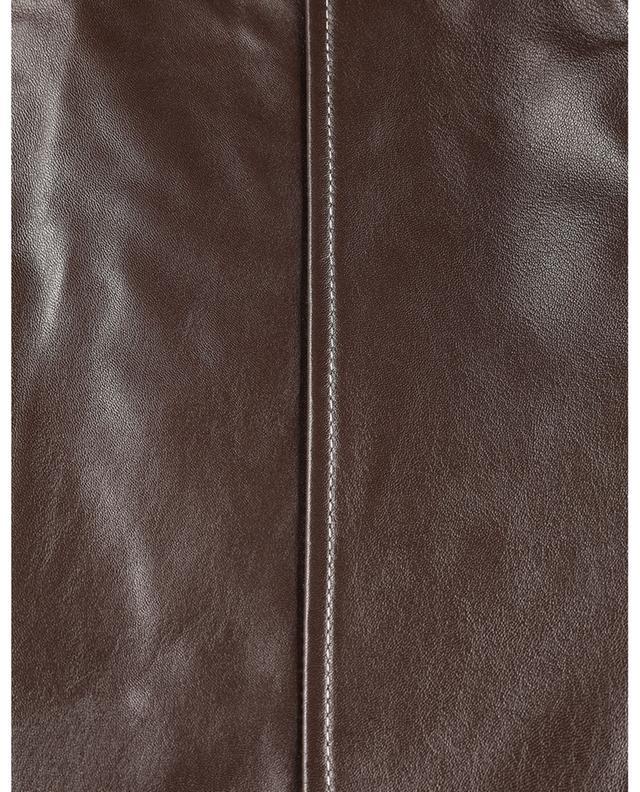 Pantalon carotte en cuir Curve GANNI