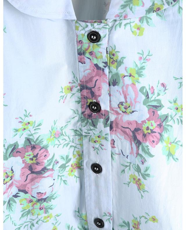 Chemise oversize fleurie en popeline à col V GANNI