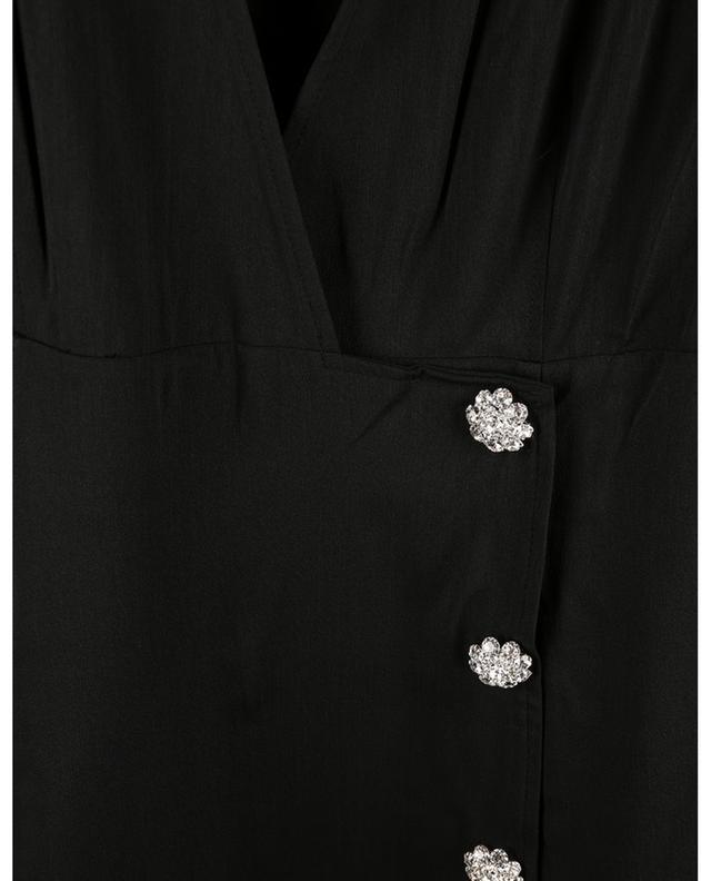 Robe portefeuille midi ample à boutons cristal GANNI