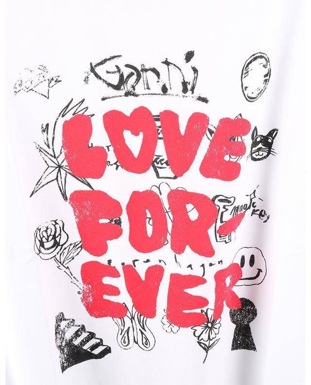 T-shirt en coton bio LOVE FOR-EVER GANNI
