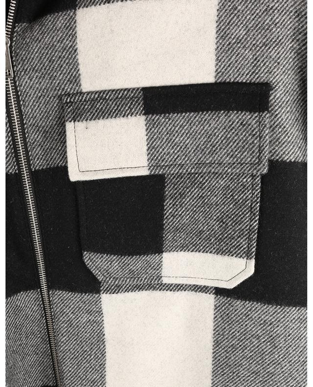 Surchemise en laine à carreaux vichy Ian A.P.C.