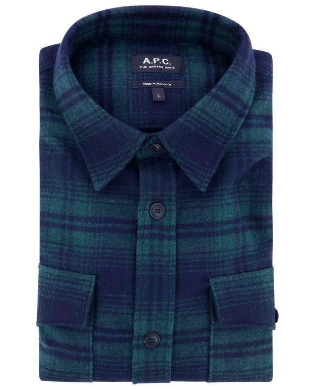 Surchemise à carreaux en laine Leo A.P.C.