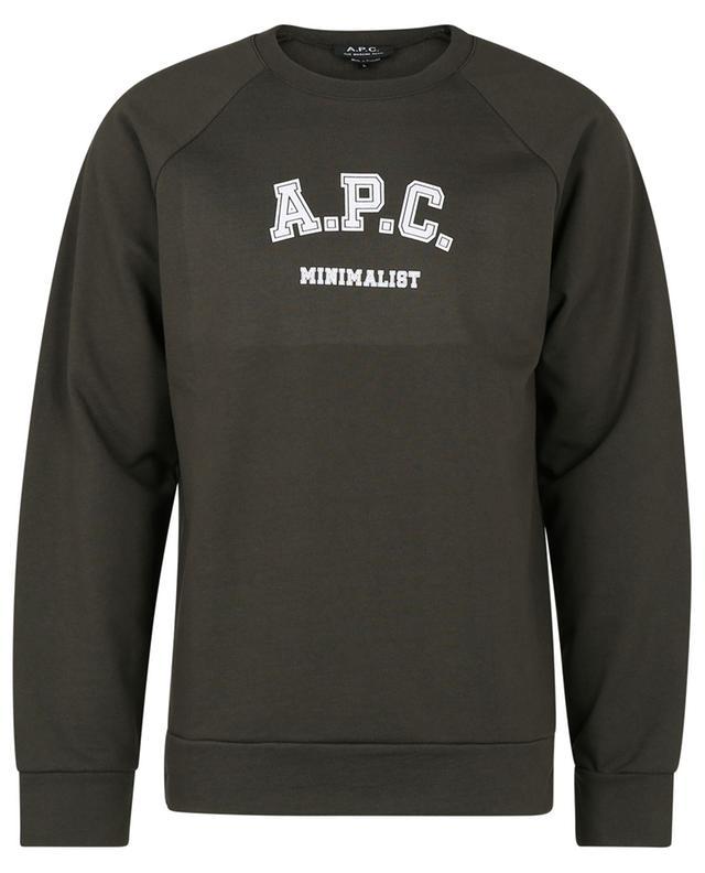 Sweat-shirt à col rond imprimé Phil A.P.C.