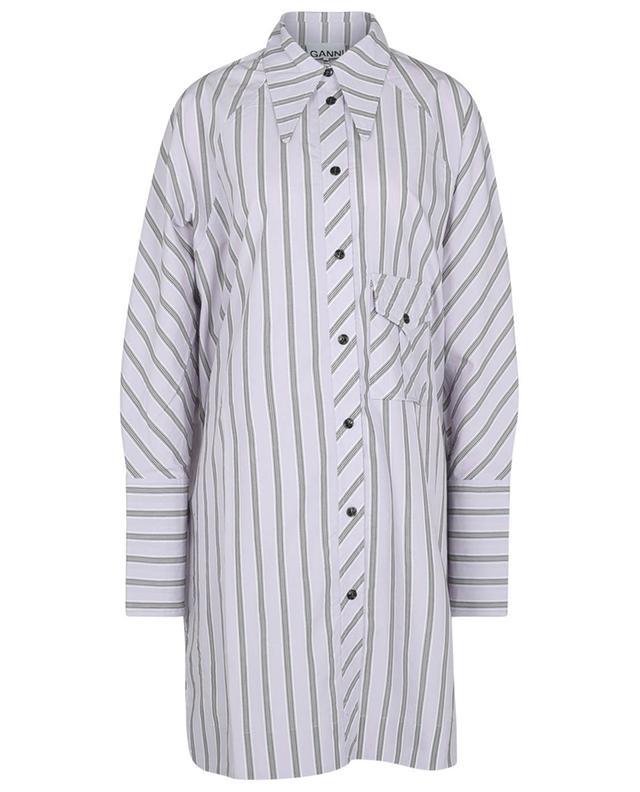 Robe chemise oversize en coton rayé GANNI