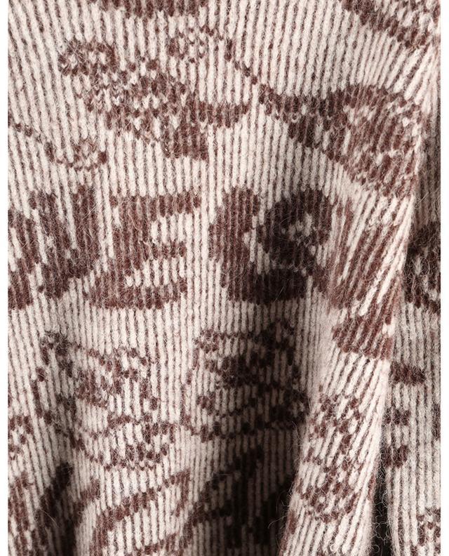 Pull jacquard motif smiley et logo en alpaga GANNI