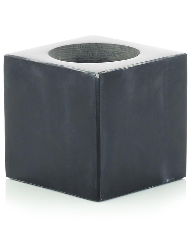 Bougeoir en marbre noir STONED