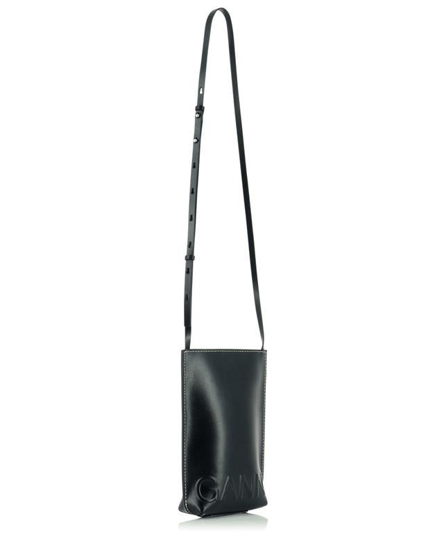 Petit sac porté croisé en cuir recyclé Banner GANNI