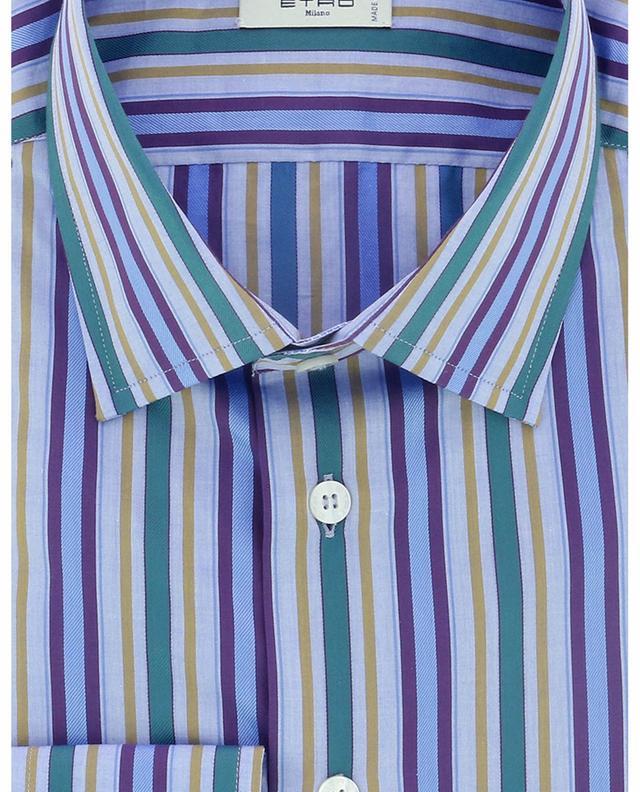 Chemise à rayures multicolores et manches longues ETRO
