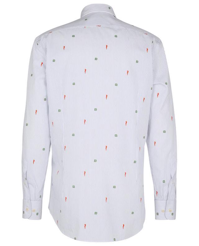 Chemise à rayures, trèfles et piments Pegaso ETRO