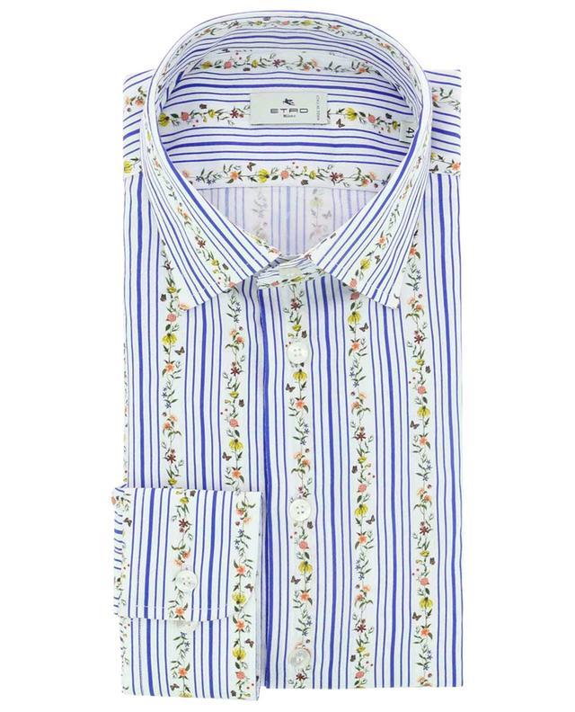 Chemise en jacquard de coton à rayures et fleurs ETRO