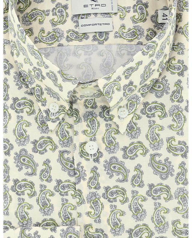 Chemise slim en coton imprimée détails Paisley ETRO