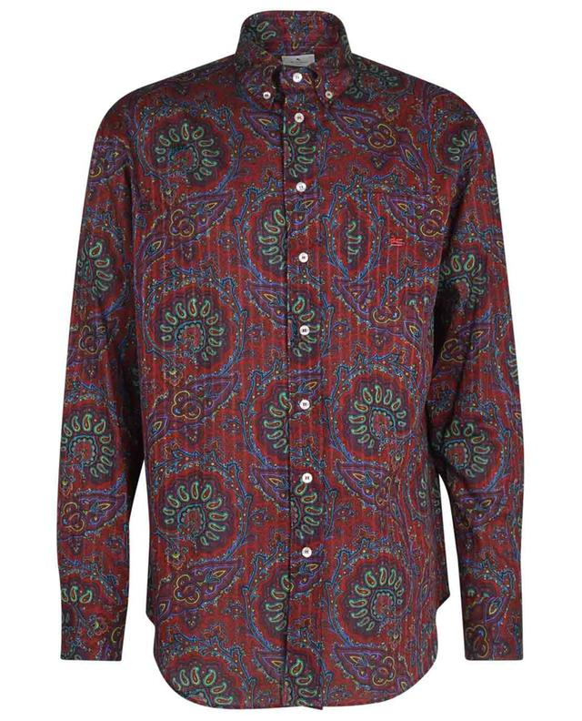 Chemise à rayures texturées et imprimé Paisley Comfort Fit ETRO