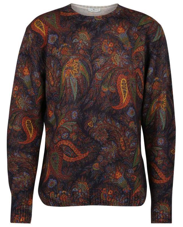 Pull ample en laine à col rond et imprimé exotique ETRO