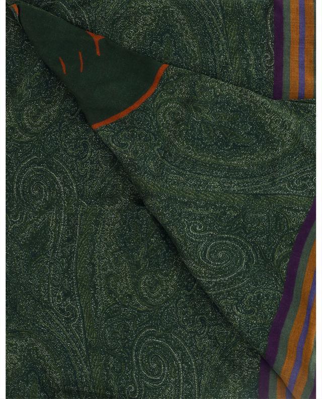 Écharpe en modal et cachemire motifs Paisley et Pégase Delhy ETRO