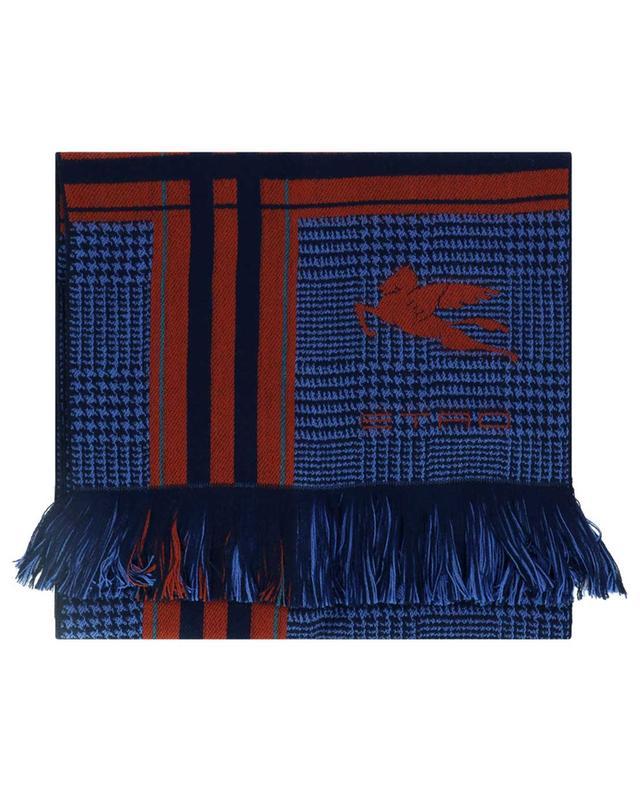 Écharpe en laine pied-de-poule et rayures ETRO