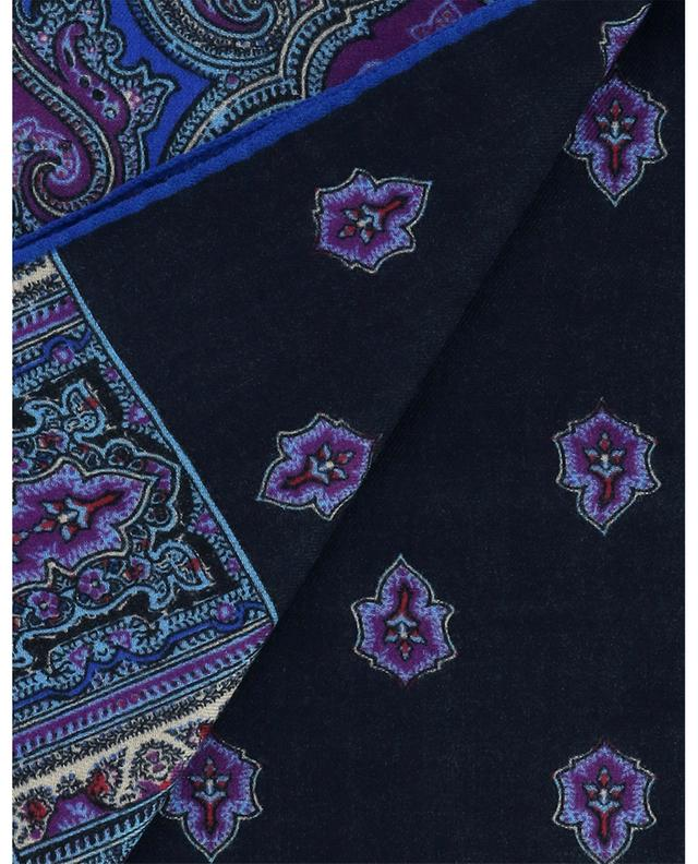 Écharpe en laine et soie avec motifs ethniques Calcutta ETRO
