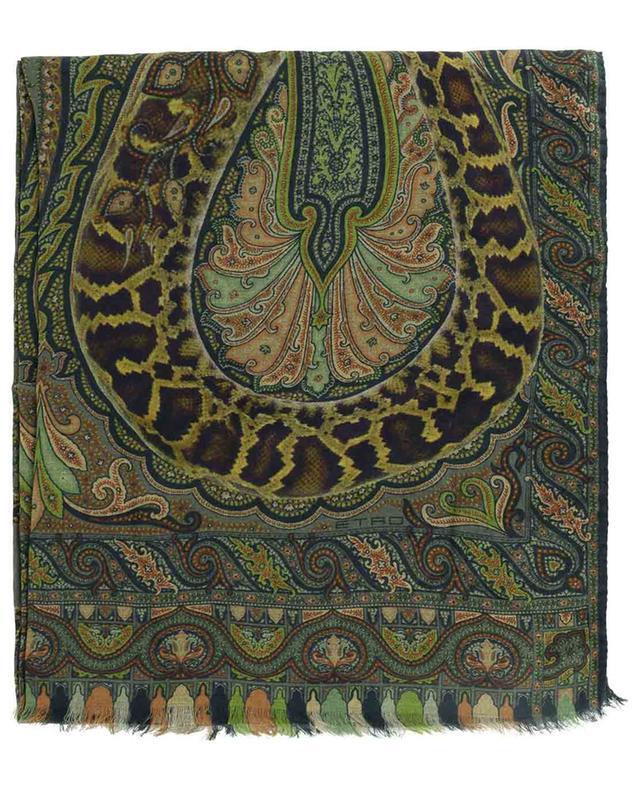 Écharpe fine à motifs Paisley et python Delhy ETRO