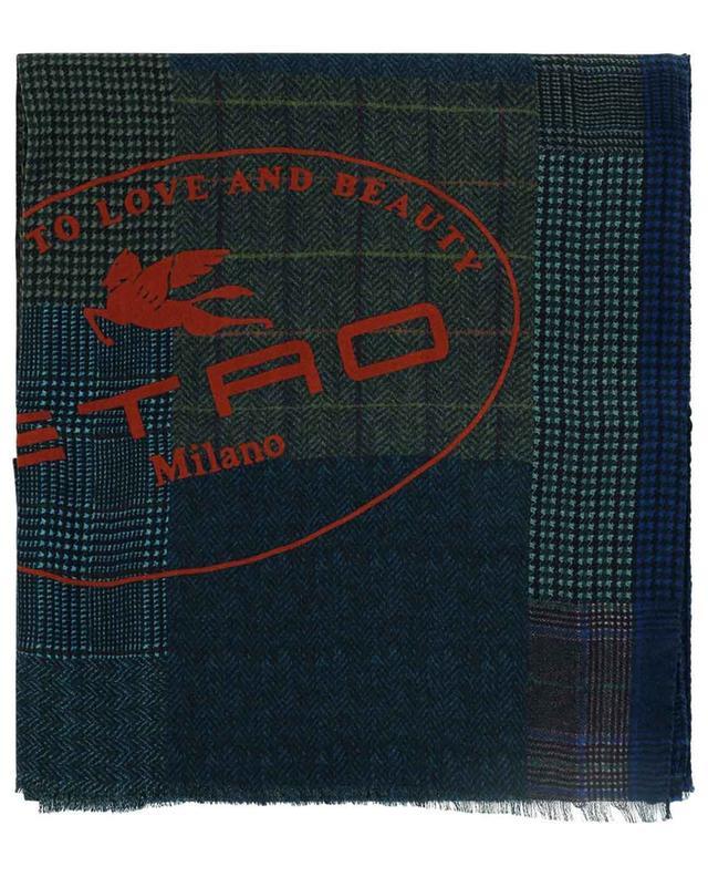 Écharpe imprimée patchwork à carreaux et Pegaso Shaal-Nur ETRO