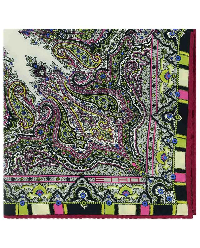 Pochette en soie imprimée de motifs orientaux Bangalore ETRO