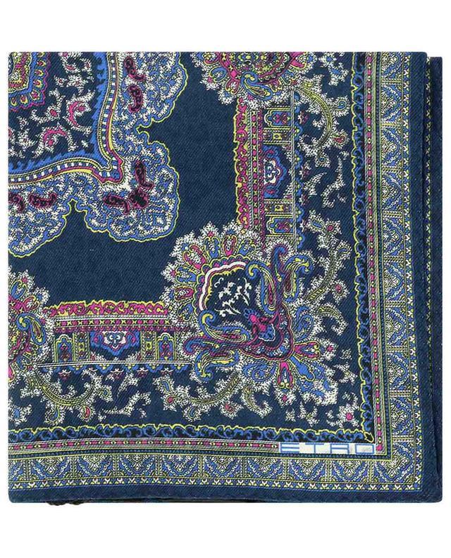 Pochette de costume en soie et laine avec imprimé Paisley Jamul ETRO