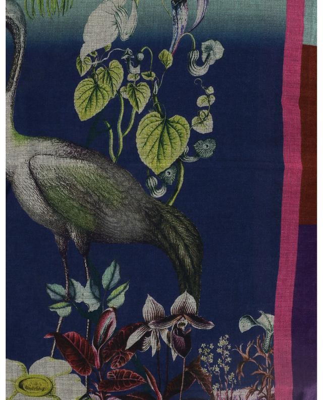 Écharpe fine embellie d'oiseaux et de fleurs Shaal-Nur ETRO