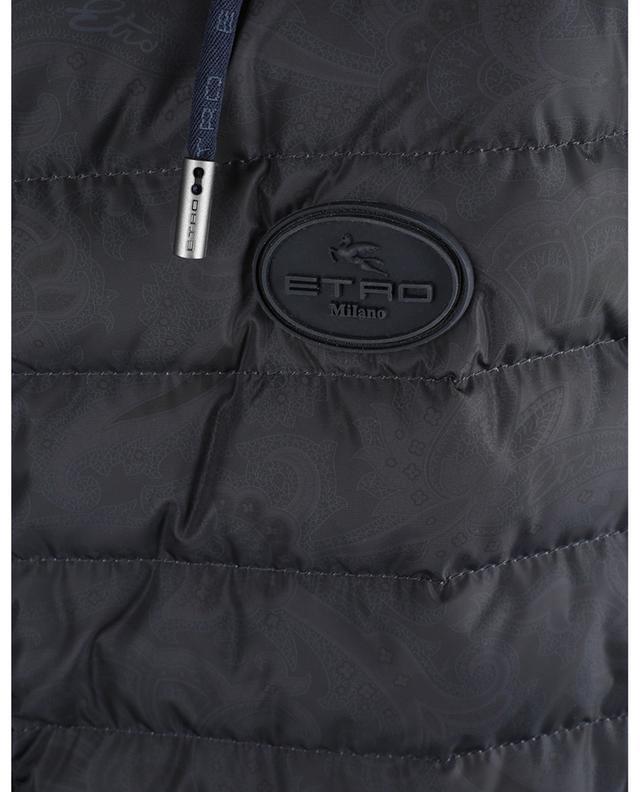 Cardigan à capuche et parties en nylon ouatées imprimées Paisley ETRO