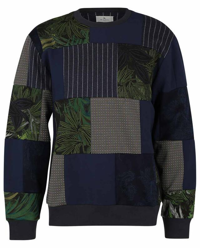 Sweat-shirt patchwork Upcycling ETRO