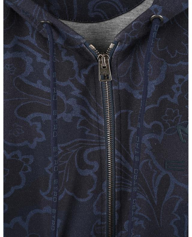 Sweat-shirt zippé à capuche imprimé fleuri Pegaso ETRO