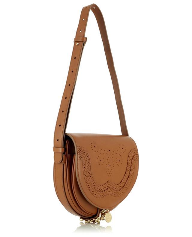 Sac porté épaule en cuir perforé détail chaîne Mara SEE BY CHLOE