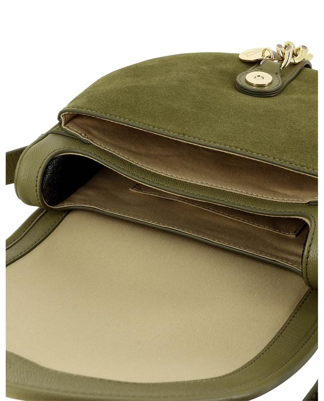 Sac porté épaule en cuir et daim détail chaîne Mara SEE BY CHLOE