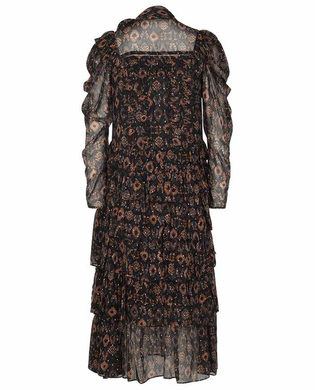 Robe midi en mousseline motif ikat Azra ULLA JOHNSON