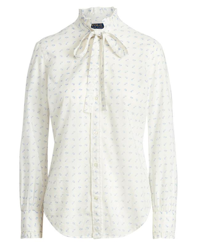 Chemise en coton à lavallière imprimée Daisy POLO RALPH LAUREN