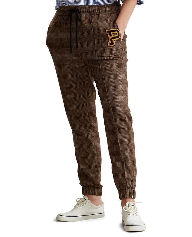Pantalon à carreaux esprit jogging à patch P POLO RALPH LAUREN