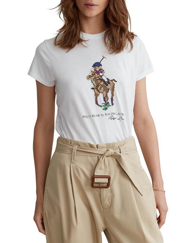T-shirt à manches coures en jersey imprimé Polo Bear POLO RALPH LAUREN