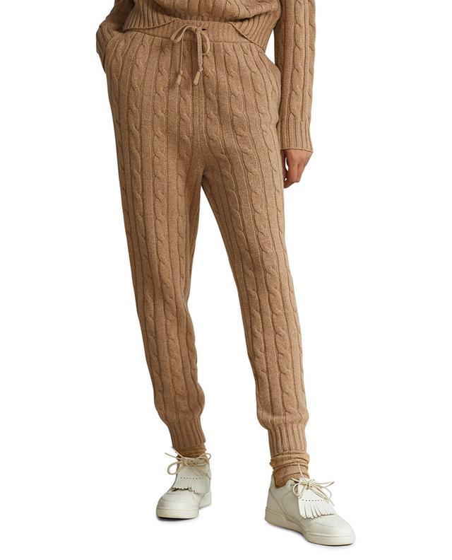 Pantalon de jogging en maille torsadée de laine et cachemire Pony POLO RALPH LAUREN