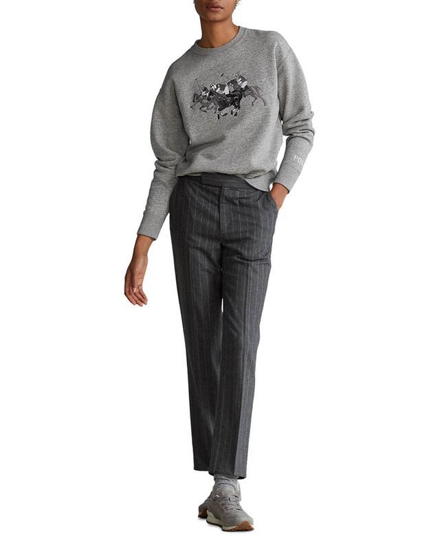 Sweat-shirt à col rond bordé Polo Match POLO RALPH LAUREN