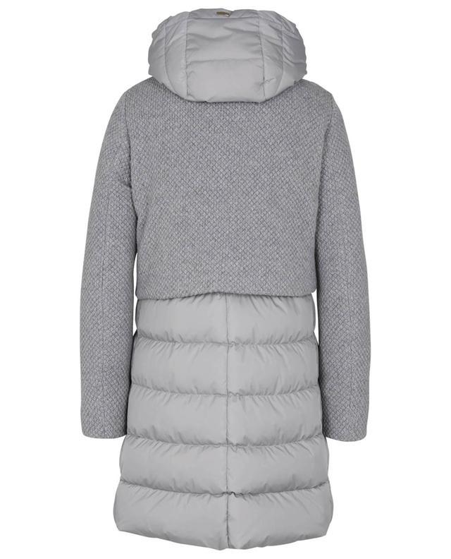 Manteau bi-matière en laine mélangée Chamonix Revival HERNO