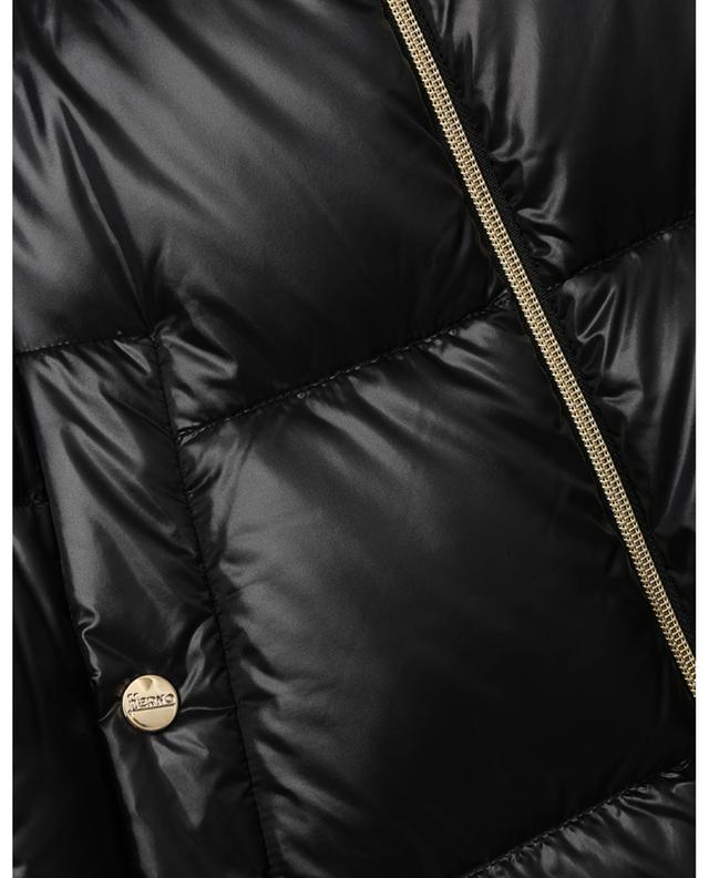 Manteau long en nylon brillant Puffer Nylon Ultralight HERNO