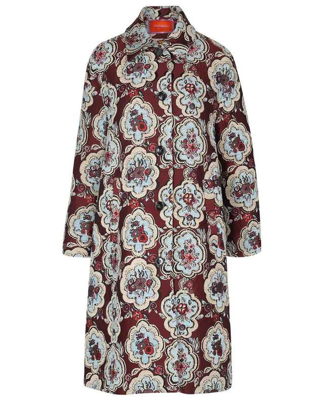 Manteau ample en jacquard Boxy Matisse LA DOUBLEJ