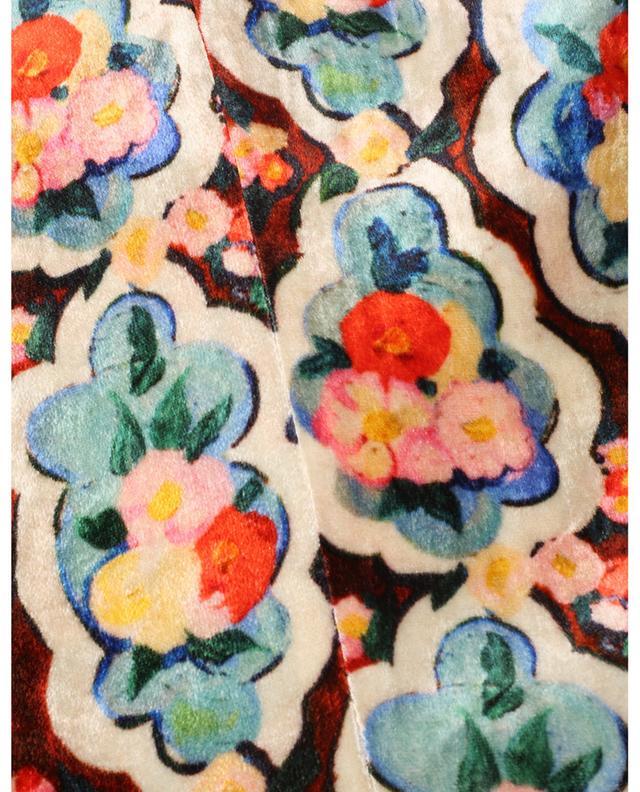 Robe longue en velours imprimé Kenny Matisse LA DOUBLEJ